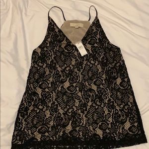 Lace cami blouse NWT